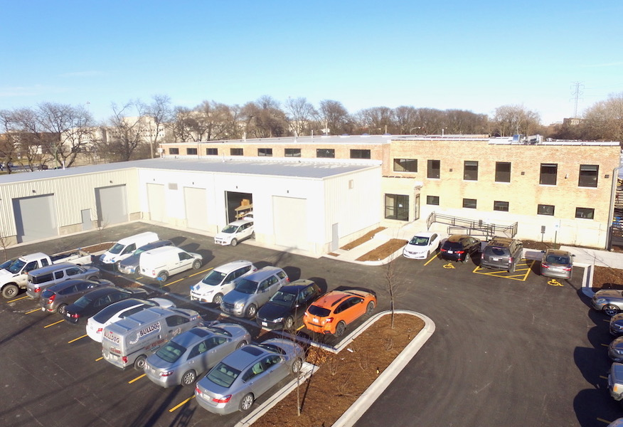 An aerial view of Pioneer's new office.